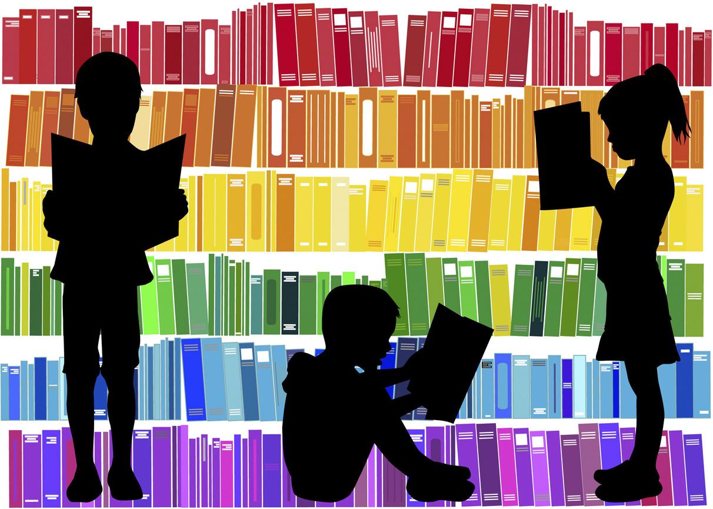 51240312 - children reading the book.